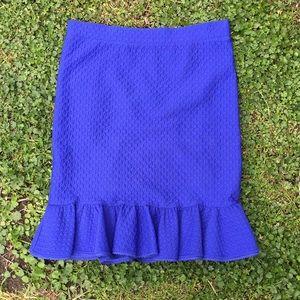 Cobalt Blue Anthropologie Skirt